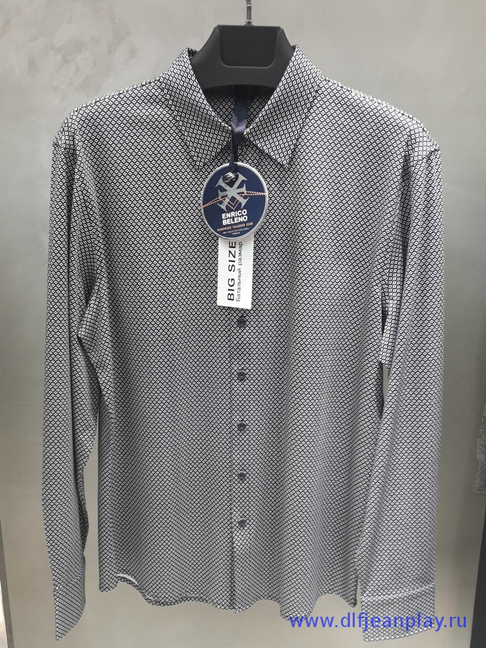 Рубашка муж. арт.16227 SHIRT NAVYBLUE & WHITE