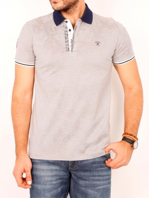 Футболка муж. арт.19625 POLO T-SHIRT GREY BATT