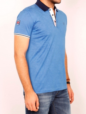 Футболка муж. арт.19625 POLO T-SHIRT INDIGO