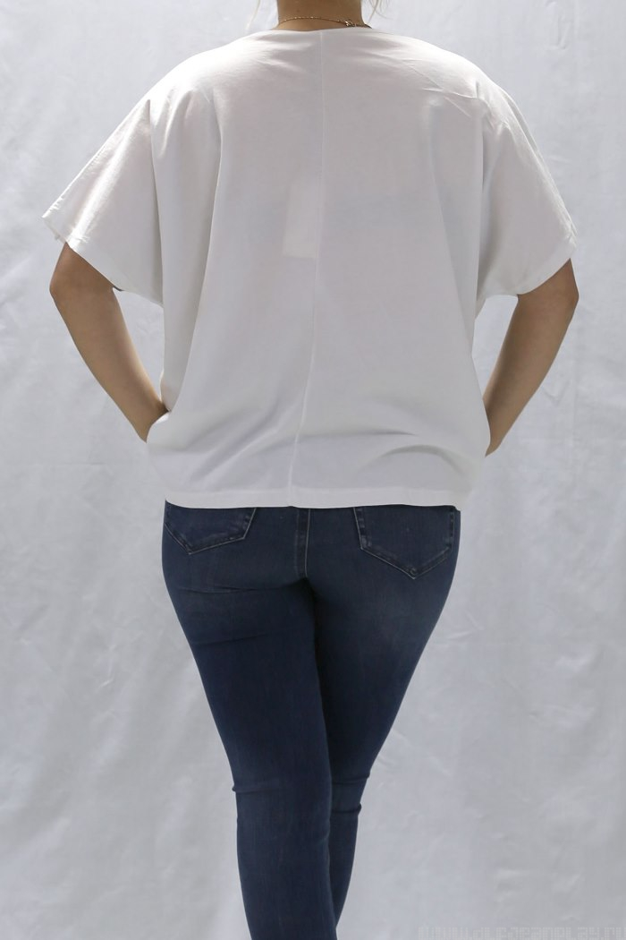 Футболка жен. арт.21558 ROUND NECK OVER WHITE