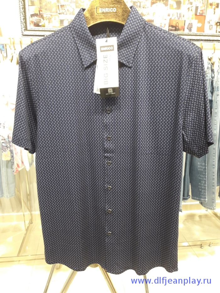 Рубашка муж. арт.16269 SHIRT BATT NAVY BLUE