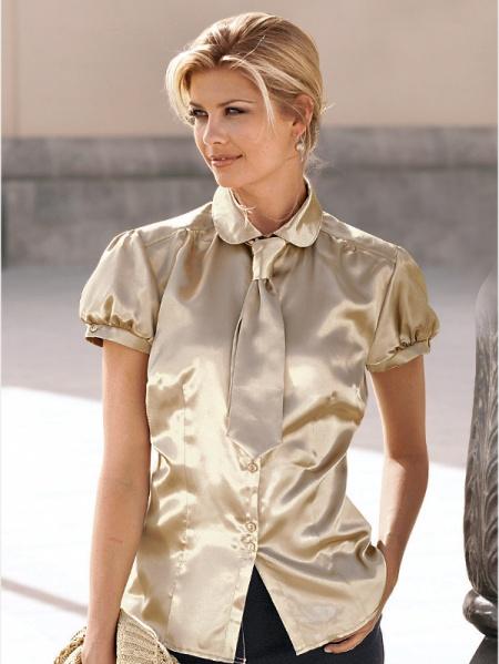 be6b474488a Женская рубашка и галстук - Джинсовая одежда